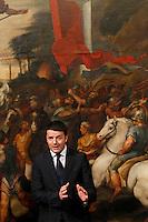 Il Presidente del Consiglio Matteo Renzi presiede la cerimonia del giuramento per i sottosegretari a Palazzo Chigi, Roma, 28 febbraio 2014.<br /> Italian Premier Matteo Renzi attends the undersecretaries' swearing in ceremony at Chigi palace, Rome, 28 February 2014.<br /> UPDATE IMAGES PRESS/Riccardo De Luca