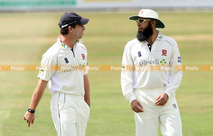 Hashim Amla (R) is seen in the field on his debut for Essex - Essex CCC vs Glamorgan CCC - LV County Championship Division Two Cricket at the Ford County Ground, Chelmsford, Essex -  07/07/09 - MANDATORY CREDIT: Gavin Ellis/TGSPHOTO - Self billing applies where appropriate - Tel: 0845 094 6026