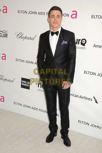 Colton Haynes.21st Annual Elton John Academy Awards Viewing Party held at West Hollywood Park, West Hollywood, California, USA..February 24th, 2013.oscars full length white black bow tie tuxedo hand in pocket .CAP/ADM/BP.©Byron Purvis/AdMedia/Capital Pictures.
