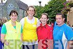Annette Courtney, Lisa Corkery, Eileen Sweeney and Mark King who participated in the Michelle O'Connor memorial walk in aid of Cystic Fibrosis in Killarney on Sunday