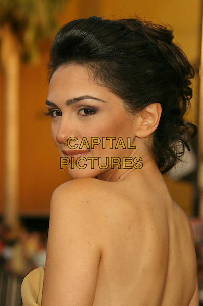 "NAZANIN BONIADI.""Iron Man"" Los Angeles Premiere held at the Grauman's Chinese Theatre, Hollywood, California, USA,.30 April 2008..portrait headshot back over shoulder.CAP/ADM/RE.©Russ Elliot/Admedia/Capital PIctures"