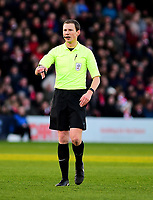 Referee Peter Wright<br /> <br /> Photographer Andrew Vaughan/CameraSport<br /> <br /> The EFL Sky Bet League Two - Lincoln City v Port Vale - Tuesday 1st January 2019 - Sincil Bank - Lincoln<br /> <br /> World Copyright &copy; 2019 CameraSport. All rights reserved. 43 Linden Ave. Countesthorpe. Leicester. England. LE8 5PG - Tel: +44 (0) 116 277 4147 - admin@camerasport.com - www.camerasport.com