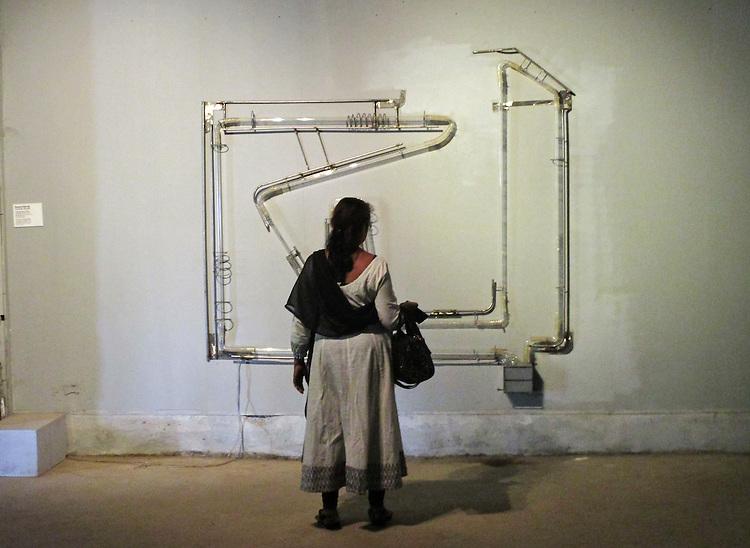WHORLED EXPLORATIONS - Kochi Muziris Biennale 2014 - Susanta Mandal work.