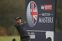Austin Connelly (CAN) on the 3rd tee during Round 4 of the Sky Sports British Masters at Walton Heath Golf Club in Tadworth, Surrey, England on Sunday 14th Oct 2018.<br /> Picture:  Thos Caffrey | Golffile<br /> <br /> All photo usage must carry mandatory copyright credit (&copy; Golffile | Thos Caffrey)