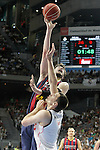 Real Madrid's Jonas Maciulis (d) and FC Barcelona's Ante Tomic during Liga Endesa ACB 2nd Final Match.June 21,2015. (ALTERPHOTOS/Acero)