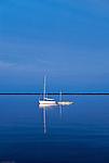 Small sailboats, Outer Banks, North Carolina, USA