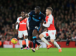 Arsenal's Aaron Ramsey tussles with Manchester City's Yaya Toure<br /> <br /> Barclays Premier League- Arsenal vs Manchester City - Emirates Stadium - England - 21st December 2015 - Picture David Klein/Sportimage