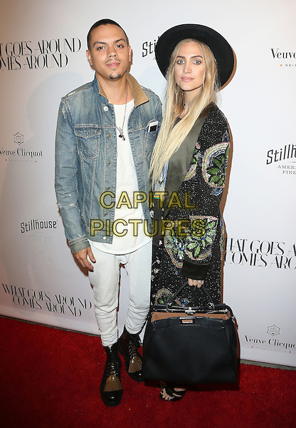 13 October 2016 - Beverly Hills, California - Evan Ross, Ashlee Simpson.   What Goes Around Comes Around (WGACA) Grand Opening held at What Goes Around Comes Around. <br /> CAP/ADM/FS<br /> &copy;FS/ADM/Capital Pictures