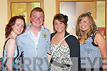 Having fun at the Lily of Killarney in the Gleneagle Hotel on Friday night was l-r: Laura Moynihan, Denis McCarthy, Aileen Hurley, and Jessica O'Sullivan