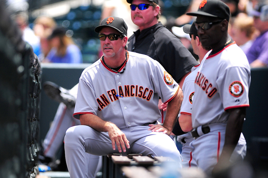 July 26, 2009: Giants bench coach Ron Wotus during a regular season game between the San Francisco Giants and the Colorado Rockies at Coors Field in Denver, Colorado. The Rockies beat the Giants 4-2. *****For editorial use only*****