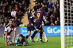 FC Barcelona's Luis Suarez celebrates goal during La Liga match between Rayo Vallecano and FC Barcelona at Vallecas Stadium in Madrid, Spain. November 03, 2018. (ALTERPHOTOS/A. Perez Meca)