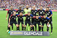 Glendale, AZ - Saturday June 25, 2016: United States Starting Eleven prior to a Copa America Centenario third place match match between United States (USA) and Colombia (COL) at University of Phoenix Stadium.