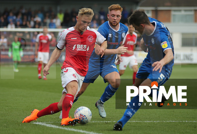 Kyle Dempsey of Fleetwood Town on the attack against Rochdale AFC during the Sky Bet League 1 match between Fleetwood Town and Rochdale at Highbury Stadium, Fleetwood, England on 18 August 2018. Photo by Stephen Gaunt / PRiME Media Images.