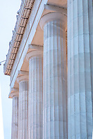 Lincolcn Memorial Washington DC Lincoln Memorial Washington DC.The Lincoln Memorial located on the Mall in Washington DC. A US National Landmark with beautiful architectural detail including columns and a statue of Abraham Lincoln. A popular tourist destination in Washington DC. Many iconic images of this Washington DC Monument. Washington D.C.