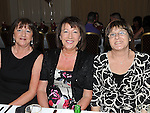 Mary Guildea, Joan Kenny and Jannette McDonagh at a dinner in honour of retired firemen held in the Glenside hotel. Photo: Colin Bell/pressphotos.ie