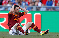 Calcio, finale di Coppa Italia: Roma vs Lazio. Roma, stadio Olimpico, 26 maggio 2013..AS Roma forward Mattia Destro reacts during the Italian Cup football final match between AS Roma and Lazio at Rome's Olympic stadium, 26 May 2013..UPDATE IMAGES PRESS/Isabella Bonotto....