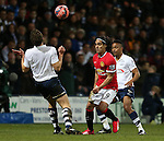Preston's Kevin Davies tussles with Manchester United's Radamel Falcao<br /> <br /> FA Cup - Preston North End vs Manchester United  - Deepdale - England - 16th February 2015 - Picture David Klein/Sportimage