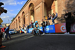 Manuele Boara (ITA) Astana Pro Team on the San Luca climb during Stage 1 of the 2019 Giro d'Italia, an individual time trial running 8km from Bologna to the Sanctuary of San Luca, Bologna, Italy. 11th May 2019.<br /> Picture: Eoin Clarke | Cyclefile<br /> <br /> All photos usage must carry mandatory copyright credit (© Cyclefile | Eoin Clarke)