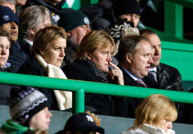 Stuart McCall watches with Leann Dempster of motherwell