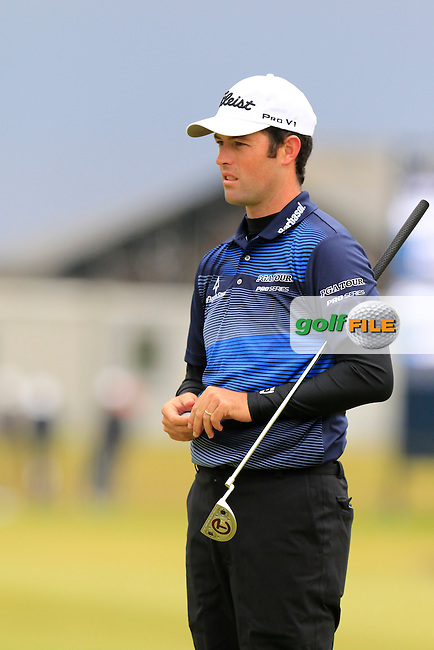 Robert Streb (USA) on the 17th green during Monday's Final Round of the 144th Open Championship, St Andrews Old Course, St Andrews, Fife, Scotland. 20/07/2015.<br /> Picture Eoin Clarke, www.golffile.ie