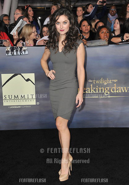 "Brooke Lyons at the world premiere of ""The Twilight Saga: Breaking Dawn - Part 2"" at the Nokia Theatre LA Live..November 12, 2012  Los Angeles, CA.Picture: Paul Smith / Featureflash"