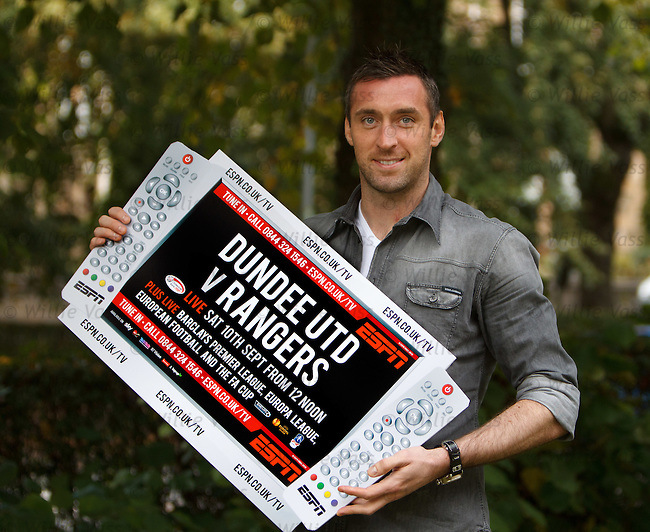 Allan McGregor at Hotel Du Vin, Glasgow as they promote ESPN's coverage of the Dundee Utd v Rangers match on Saturday