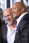 Bruce Willis and Dwayne Johnson  at The Paramount Pictures' L.A. Premiere of G.I. Joe : Retaliation held at The Grauman's Chinese Theater in Hollywood, California on March 28,2013                                                                   Copyright 2013 Hollywood Press Agency