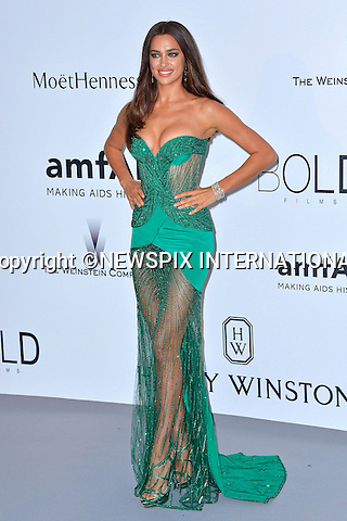 12.05.2015, Antibes; France: IRINA SHAYK<br /> attends the Cinema Against AIDS amfAR gala 2015 held at the Hotel du Cap, Eden Roc in Cap d'Antibes.<br /> MANDATORY PHOTO CREDIT: &copy;Thibault Daliphard/NEWSPIX INTERNATIONAL<br /> <br /> (Failure to credit will incur a surcharge of 100% of reproduction fees)<br /> <br /> **ALL FEES PAYABLE TO: &quot;NEWSPIX  INTERNATIONAL&quot;**<br /> <br /> Newspix International, 31 Chinnery Hill, Bishop's Stortford, ENGLAND CM23 3PS<br /> Tel:+441279 324672<br /> Fax: +441279656877<br /> Mobile:  07775681153<br /> e-mail: info@newspixinternational.co.uk