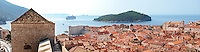 Stock photos of  the city wall and roof to views of Dubrovnik Croatia