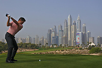 Robert Rock (ENG) on the 8th tee during Round 2 of the Omega Dubai Desert Classic, Emirates Golf Club, Dubai,  United Arab Emirates. 25/01/2019<br /> Picture: Golffile | Thos Caffrey<br /> <br /> <br /> All photo usage must carry mandatory copyright credit (© Golffile | Thos Caffrey)