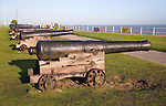 Cannons on Gun Hill, Southwold, Suffolk, England