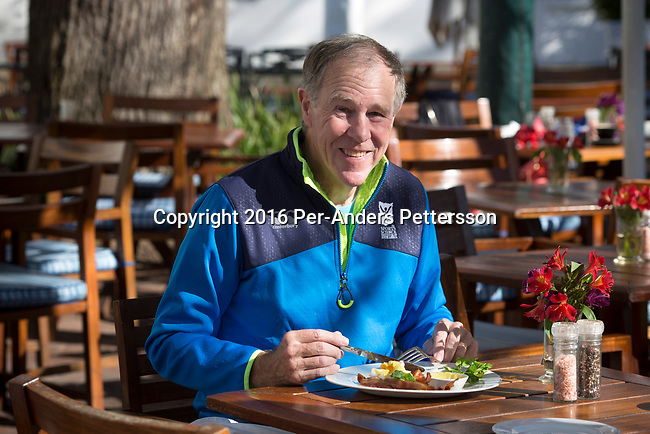 CAPE TOWN, SOUTH AFRICA - AUGUST 10: Tim Noakes,  a South African scientist eats breakfast at his favorite restaurant at Alphen House on August 10, 2016 in Constantia, outside Cape Town, South Africa.  (Photo by Per-Anders Pettersson/Getty Images)
