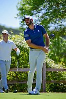 Dustin Johnson (USA) watches his tee shot on 6 during round 5 of the World Golf Championships, Dell Technologies Match Play, Austin Country Club, Austin, Texas, USA. 3/25/2017.<br /> Picture: Golffile | Ken Murray<br /> <br /> <br /> All photo usage must carry mandatory copyright credit (&copy; Golffile | Ken Murray)