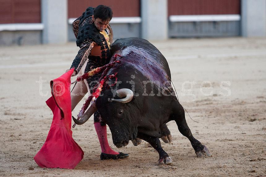 Fernando Cruz during the Bullfight Virgen de la Paloma festivity