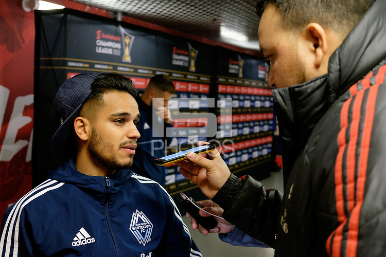 Harrison, NJ - Wednesday Feb. 22, 2017: Cristian Techera after a Scotiabank CONCACAF Champions League quarterfinal match between the New York Red Bulls and the Vancouver Whitecaps FC at Red Bull Arena.