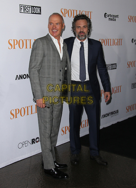 West Hollywood, CA - November 03 Michael Keaton, Mark Ruffalo Attending Special Screening Of Open Road Films' &quot;Spotlight&quot; At DGA Theater On November 03, 2015.  <br /> CAP/MPI/FS<br /> &copy;FS/MPI/Capital Pictures