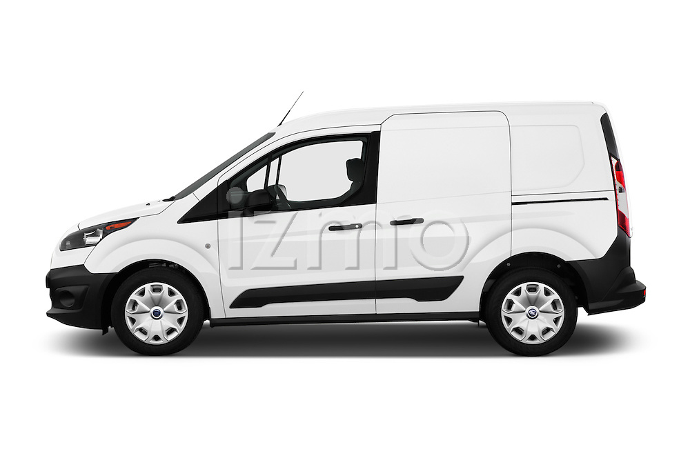 Car Driver side profile view of a 2016 Ford Transit-Connect Van-XL-SWB-(Rear-Liftgate) 5 Door Mini MPV Side View