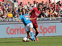 Omar Ounas of Napoli  during the  italian serie a soccer match, AS Roma -  SSC Napoli       at  the Stadio Olimpico in Rome  Italy , March 31, 2019