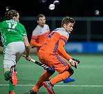 AMSTELVEEN - Sander de Wijn (Ned)   tijdens de hockeyinterland Nederland-Ierland (7-1) , naar aanloop van het WK hockey in India.   COPYRIGHT KOEN SUYK