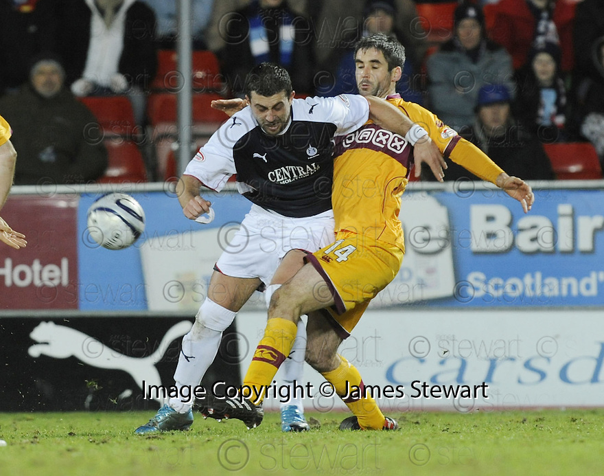 27/01/2010  Copyright  Pic : James Stewart.sct_jspa14_falkirk_v_motherwell  .::  PEDRO MOUTINHO IS CHALLENGED BY KEITH LASLEY :: .James Stewart Photography 19 Carronlea Drive, Falkirk. FK2 8DN      Vat Reg No. 607 6932 25.Telephone      : +44 (0)1324 570291 .Mobile              : +44 (0)7721 416997.E-mail  :  jim@jspa.co.uk.If you require further information then contact Jim Stewart on any of the numbers above.........