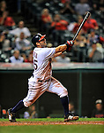 13 September 2008: Cleveland Indians' first baseman Ryan Garko in action against the Kansas City Royals at Progressive Field in Cleveland, Ohio. The Royals defeated the Indians 8-4 in the second game, sweeping their double-header...Mandatory Photo Credit: Ed Wolfstein Photo