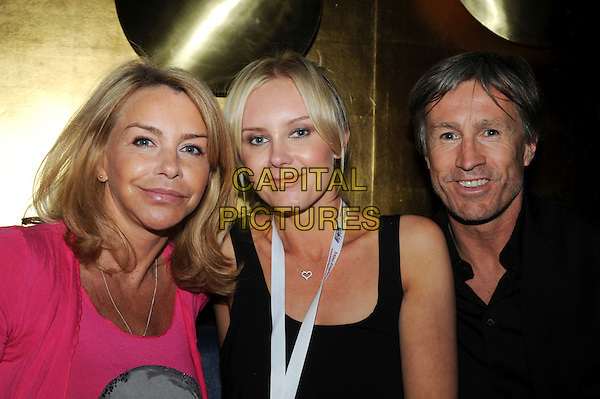LESLIE ASH, LADY SINCLAIR & LEE CHAPMAN.Miss London competition at JuJu, London, England..May 25th, 2010.headshot portrait black top pink married husband wife .CAP/IA.©Ian Allis/Capital Pictures.