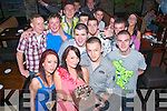 Lenur Fazilov,Woodbrooke Lawn,Monavalley,Tralee(front Rt)celebrated his 20th birthday last Thursday night June 15th in Hennessy's bar Tralee,enjoying the fun were Jessica&Melanie Hughues,Danial Carmody,Robbie O'Mahony,Chris Reidy,Jason McCoy,Sean House,Mac Cameron,Barry Keane,Mark O'Donoghue,Kevin Sweeney,Kieran Clifford and Danial Woods..
