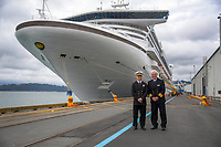 Golden Princess cruise liner - 100th cruise ship of the season at Centreport in Wellington, New Zealand on Saturday, 16 March 2019. Photo: Dave Lintott / lintottphoto.co.nz