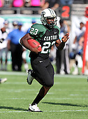 Miami Central Rockets running back Dalvin Cook #23 runs upfield on a 67 yard touchdown run during the second quarter of the Florida High School Athletic Association 6A Championship Game at Florida's Citrus Bowl on December 17, 2011 in Orlando, Florida.  The score at halftime is Armwood 16 - Miami Central 14.  (Photo By Mike Janes Photography)
