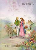 Interlitho, Sue Allison, TEENAGERS, paintings, couple, bike(KL3257/1,#J#) Jugendliche, jóvenes, illustrations, pinturas ,everyday