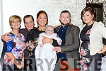 Little Nessa IO'Connor Killarney celebrates her christening with her parents Amanada O'Shea and Emmett O'Connor, grandparents Mike and Alice O'Shea and god mother Niamh O'Neill
