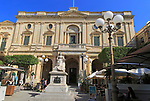Queen Victoria statue in front of National Library building, Republic Square, Valletta, Malta