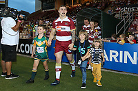 Picture by David Neilson/SWpix.com/PhotosportNZ - 10/02/2018 - Rugby League - Betfred Super League - Wigan Warriors v Hull FC  - WIN Stadium, Wollongong, Australia - Sam Powell.