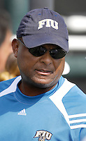 The opening day of the University of Miami Fall Classic tennis tournament at Coral Gables, Florida on Friday, November 10, 2006...Women's Tennis Assistant Coach Carlos Casely<br />
